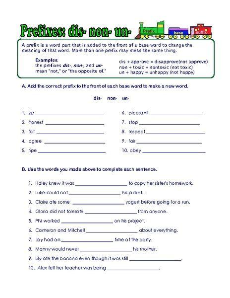 Root Word Worksheets 4th Grade Prefix Suffix and Root Word Worksheets Worksheet for 3rd