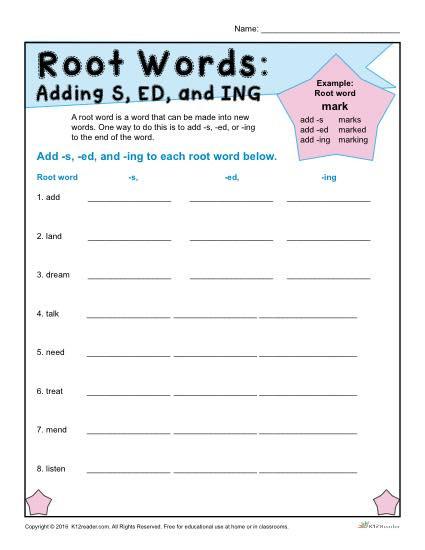 Root Word Worksheets 4th Grade Root Words Worksheets