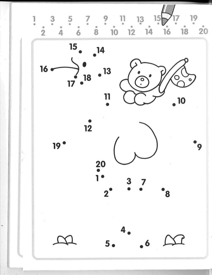 Saxon Math Kindergarten Worksheets Numbers Dot to Kindergarten Worksheets Dots Sequencing for