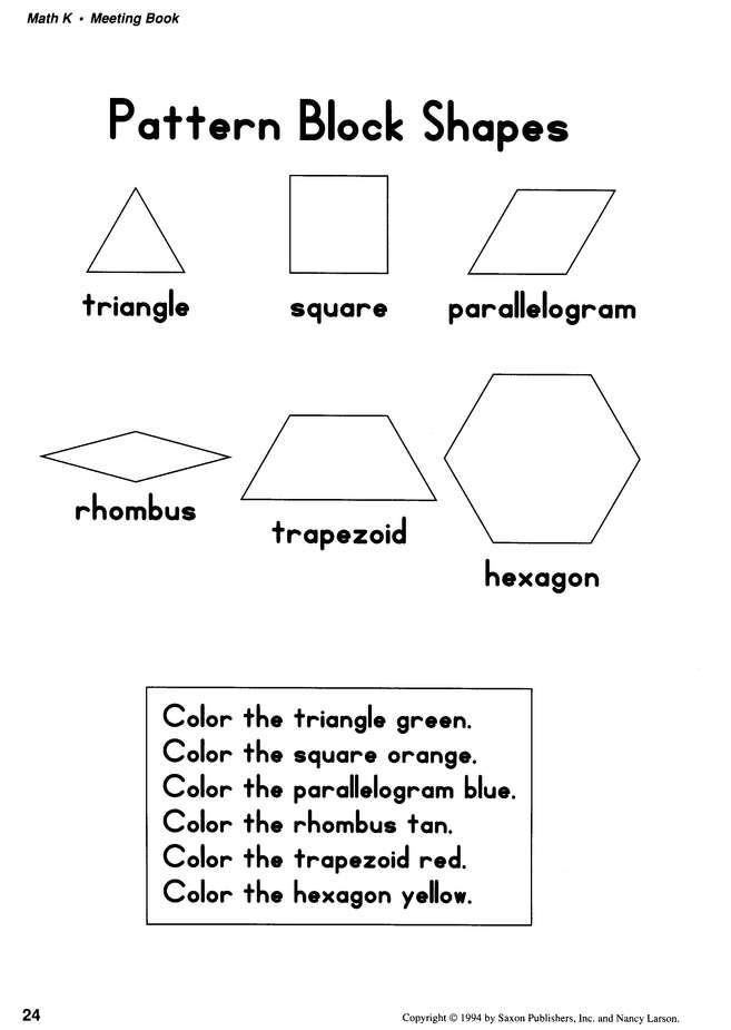 Saxon Math Kindergarten Worksheets Saxon Math K Meeting Book