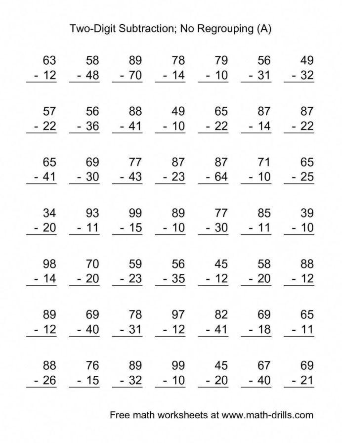 Saxon Math Second Grade Worksheets Free Math Worksheets Second Grade Addition Adding whole Tens