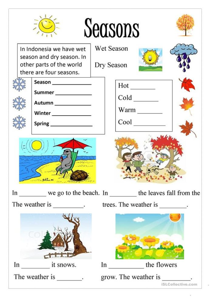 Seasons Worksheets for First Grade English Esl Seasons Worksheets Most Downloaded Results Free