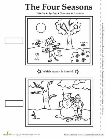 Seasons Worksheets for First Grade Four Seasons Activity Placemat
