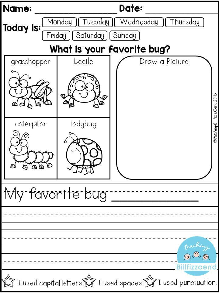 Sentence Starters for Kindergarten Free Daily Writing Prompts
