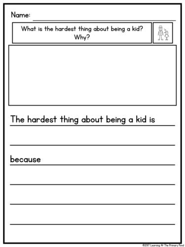 Sentence Starters for Kindergarten How to Differentiate Writing Instruction In K 2 Learning
