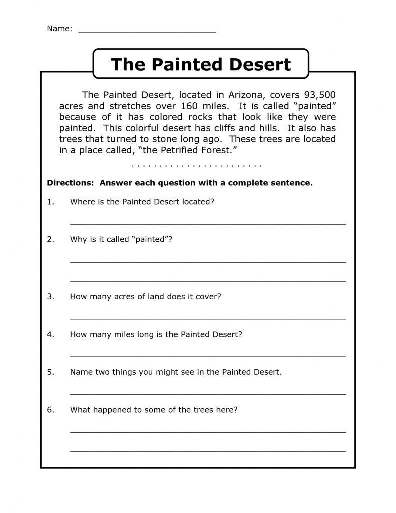 Sequence Worksheets 3rd Grade 4th Grade Reading Prehension Worksheets