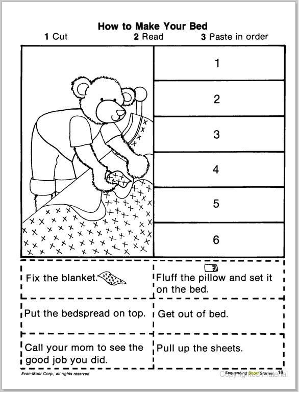 Sequence Worksheets for 1st Grade Free Story Sequencing Worksheets