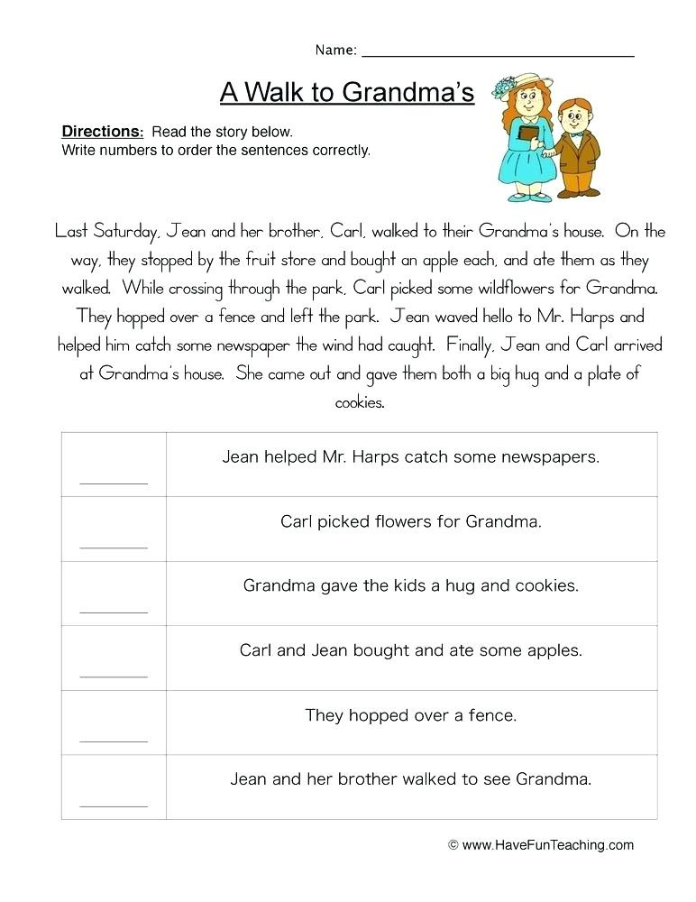 Sequence Worksheets for 3rd Grade Sequencing Worksheets 3rd Grade Download Free Educational