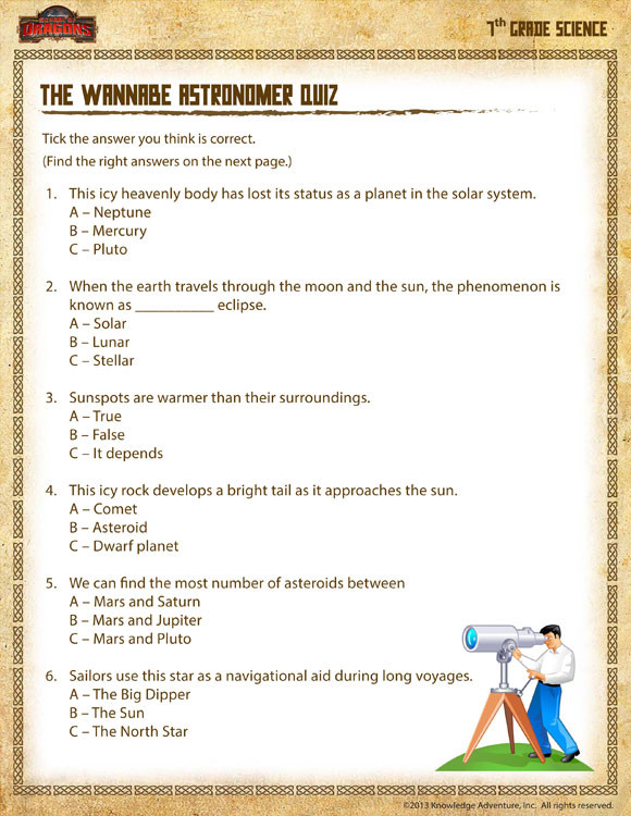 Seventh Grade Science Worksheets 28 [ 7th Grade Science Worksheets ]