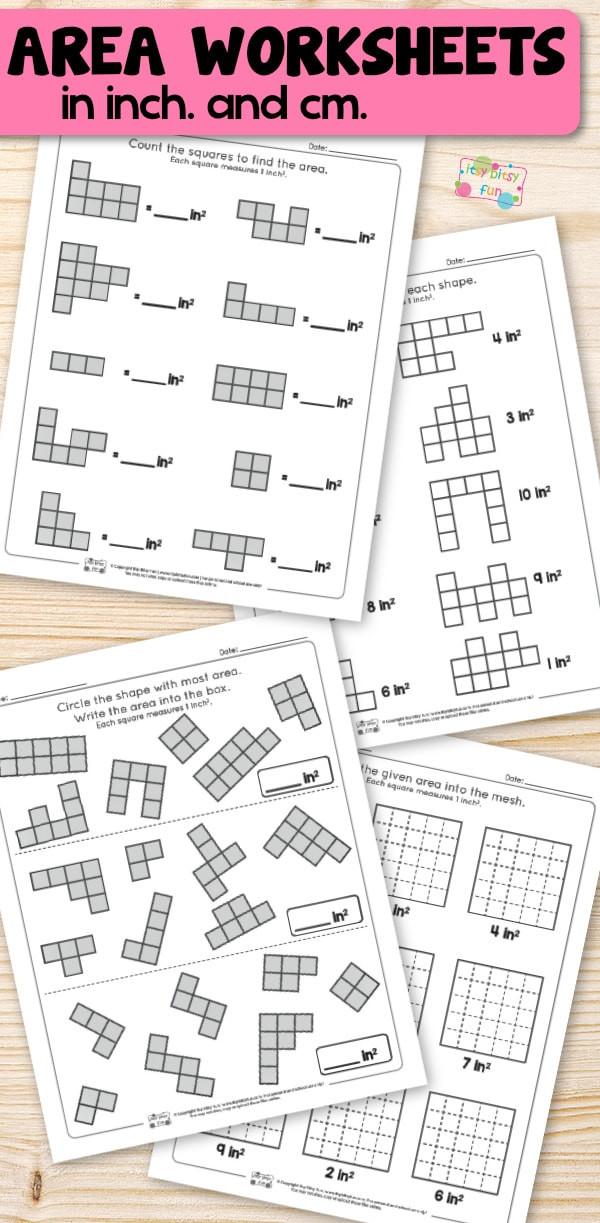 Shapes Worksheets 2nd Grade area Worksheets 2nd Grade Math Worksheets Itsy Bitsy Fun