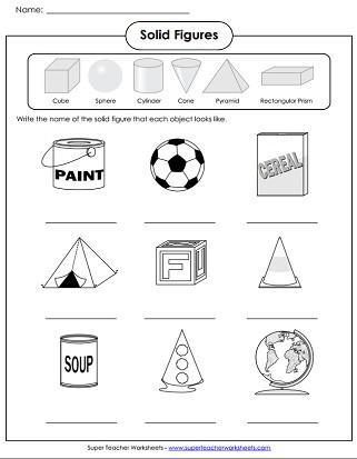 Shapes Worksheets 2nd Grade solid Shapes Worksheets