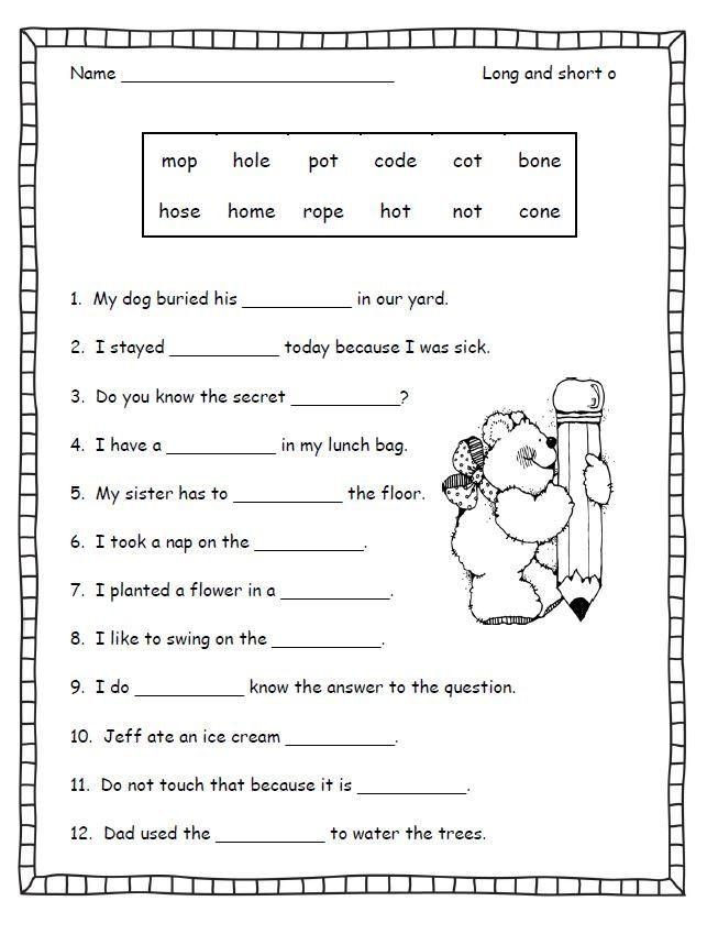 Silent E Worksheets 2nd Grade Silent E Worksheets for First Grade 3