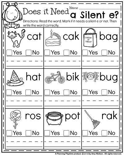 Silent E Worksheets Grade 2 Free Coloring First Grade Phonics Coloring Worksheets