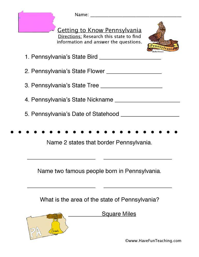 Social Studies Worksheets 2nd Grade Pennsylvania Worksheet
