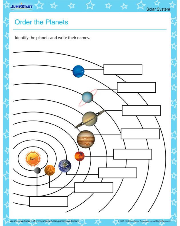 Solar System Worksheets 5th Grade order the Planets – solar System Worksheets for Kids