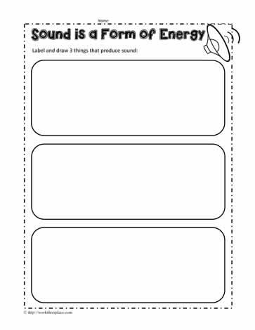 Sound Energy Worksheets 4th Grade sound Energy Worksheet Worksheets