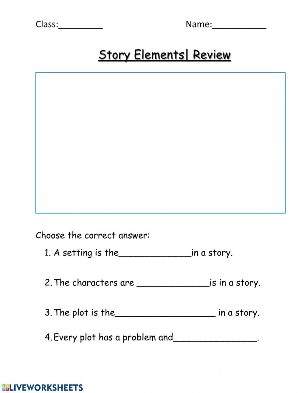 Story Elements Worksheet 2nd Grade Story Elements Review Interactive Worksheet