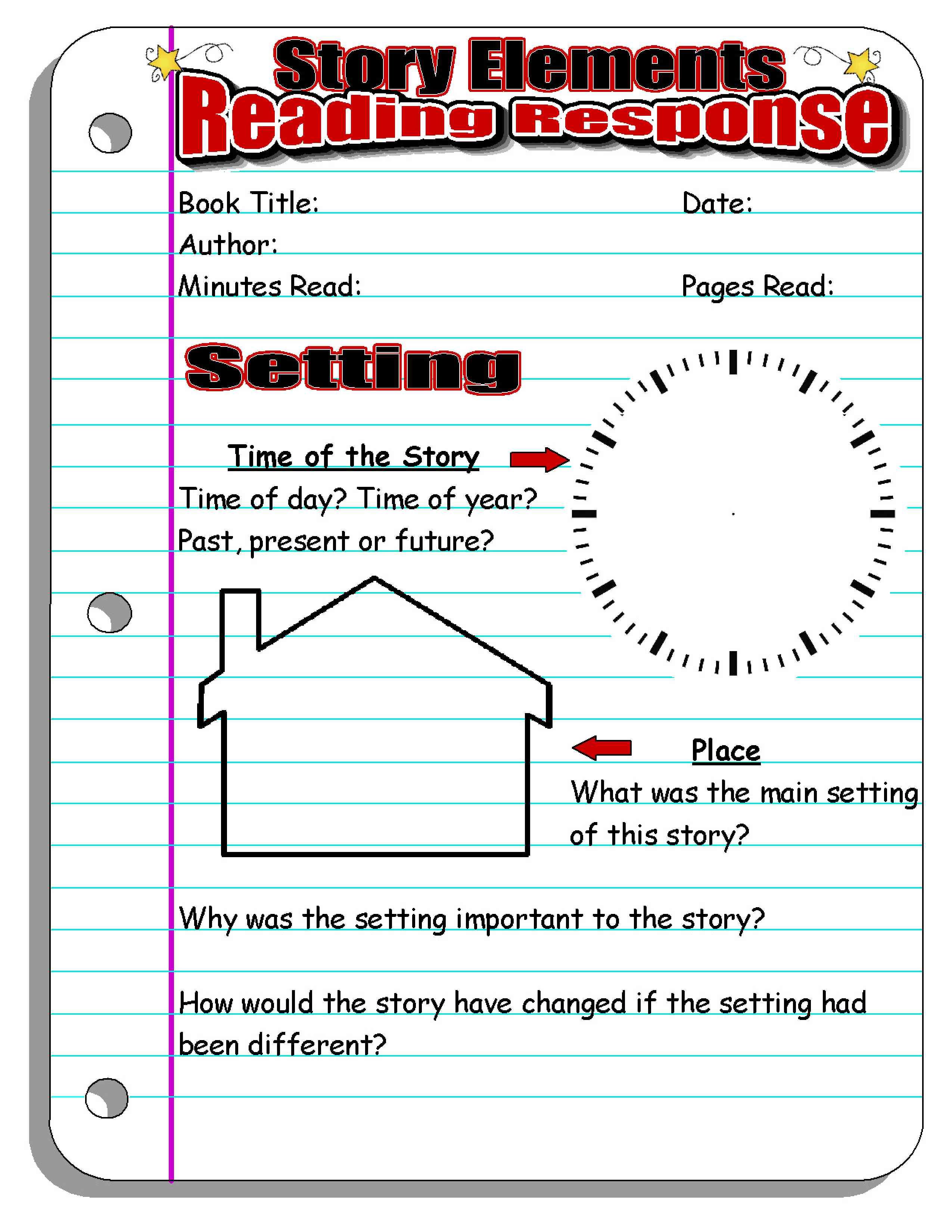Story Elements Worksheet 2nd Grade Story Elements Worksheets 3rd Grade