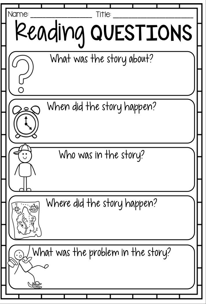 Story Elements Worksheets 2nd Grade Reading Response Worksheet Reading Questions Printables