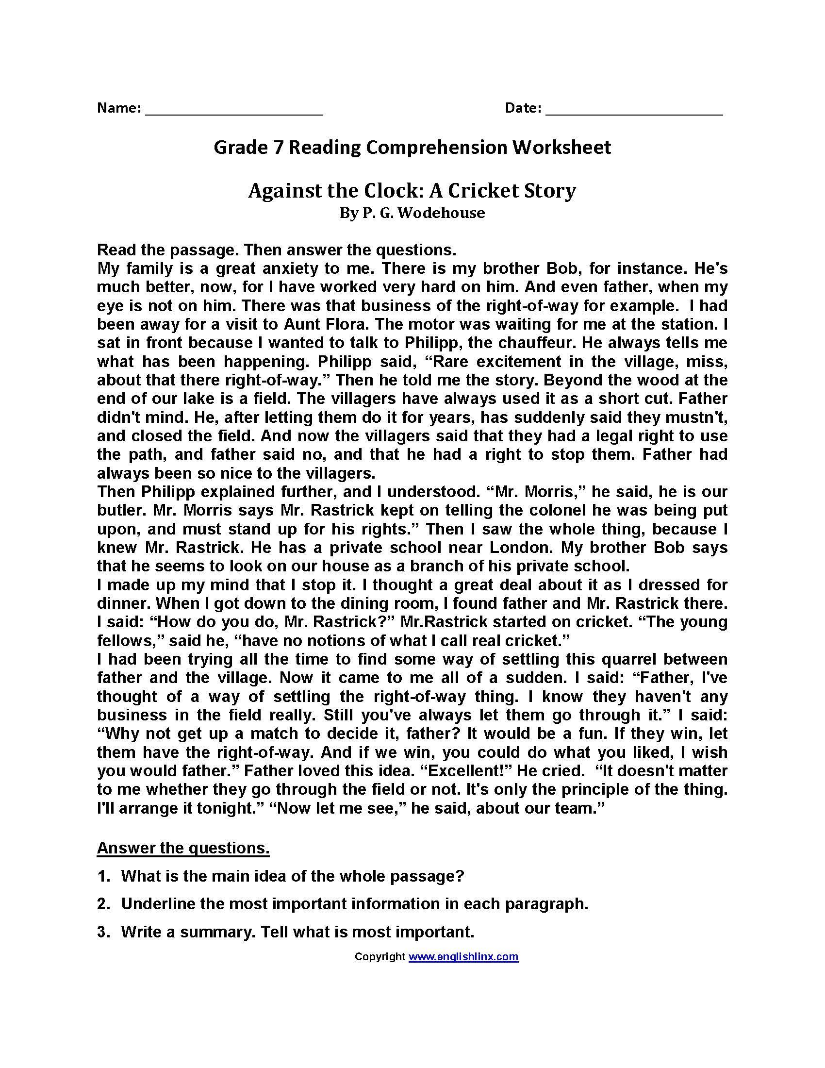 Summarizing Worksheet 3rd Grade 7 General Summarizing Worksheets 3rd Grade Di 2020