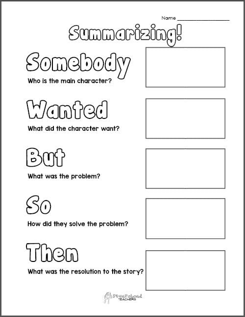 Summarizing Worksheet 3rd Grade Free Printable Summarizing Graphic organizers Grades 2 4