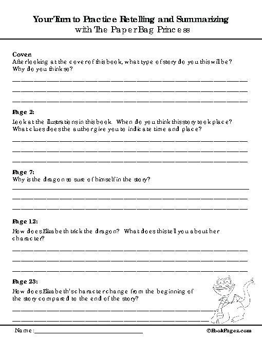 Summarizing Worksheet 3rd Grade Summarizing Worksheets 2nd Grade Free Printable