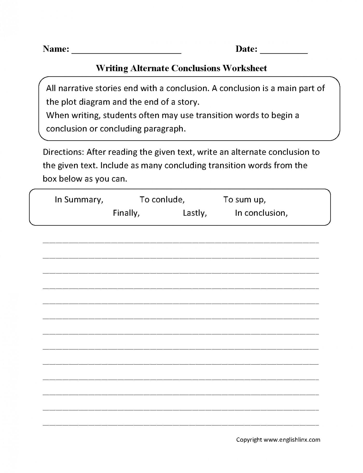 Summary Worksheets 5th Grade 4th Grade Paragraph Writing Worksheet