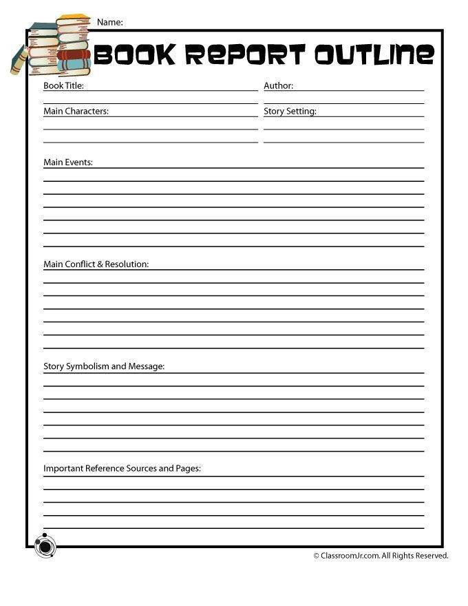 Summary Worksheets 5th Grade 5th Grade Book Report Printables