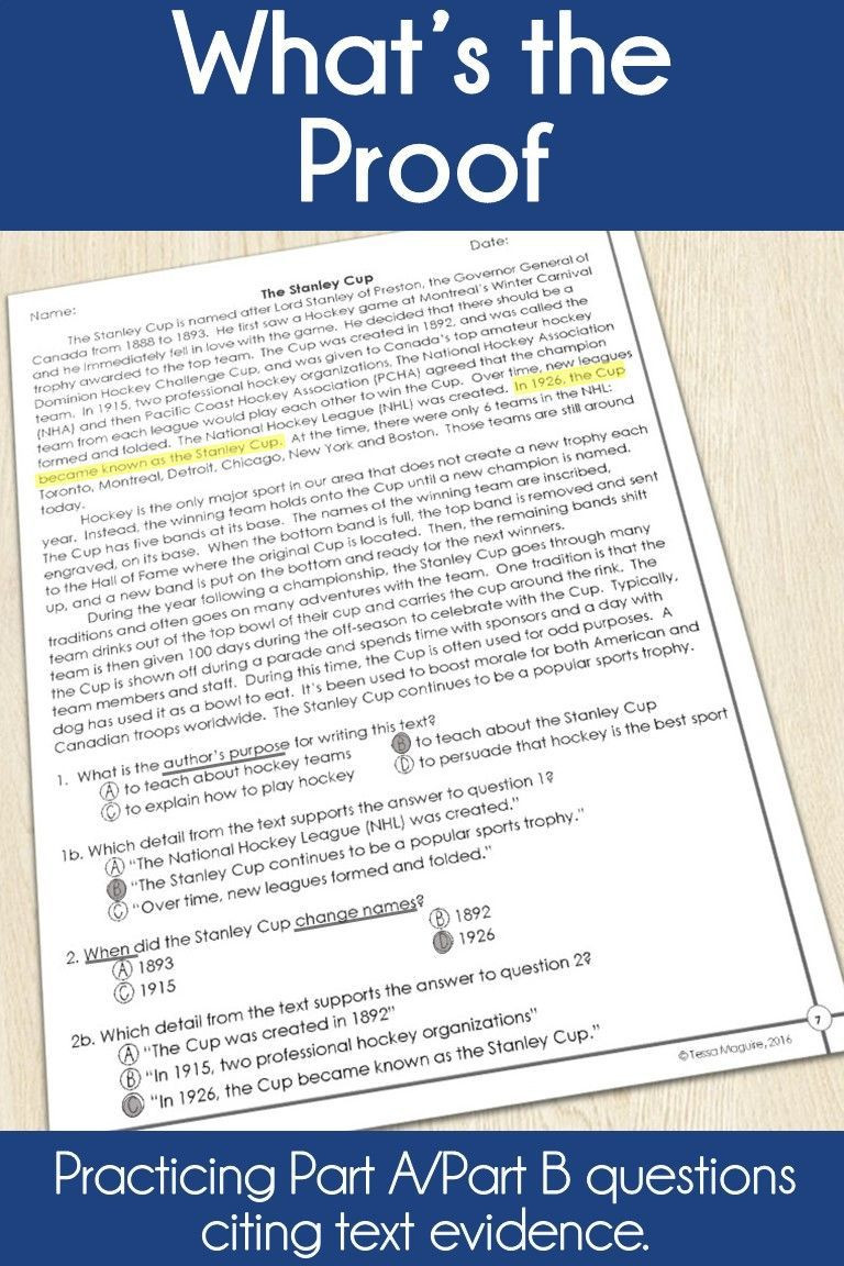 Text Evidence Worksheets 3rd Grade Pin On 3rd Grade