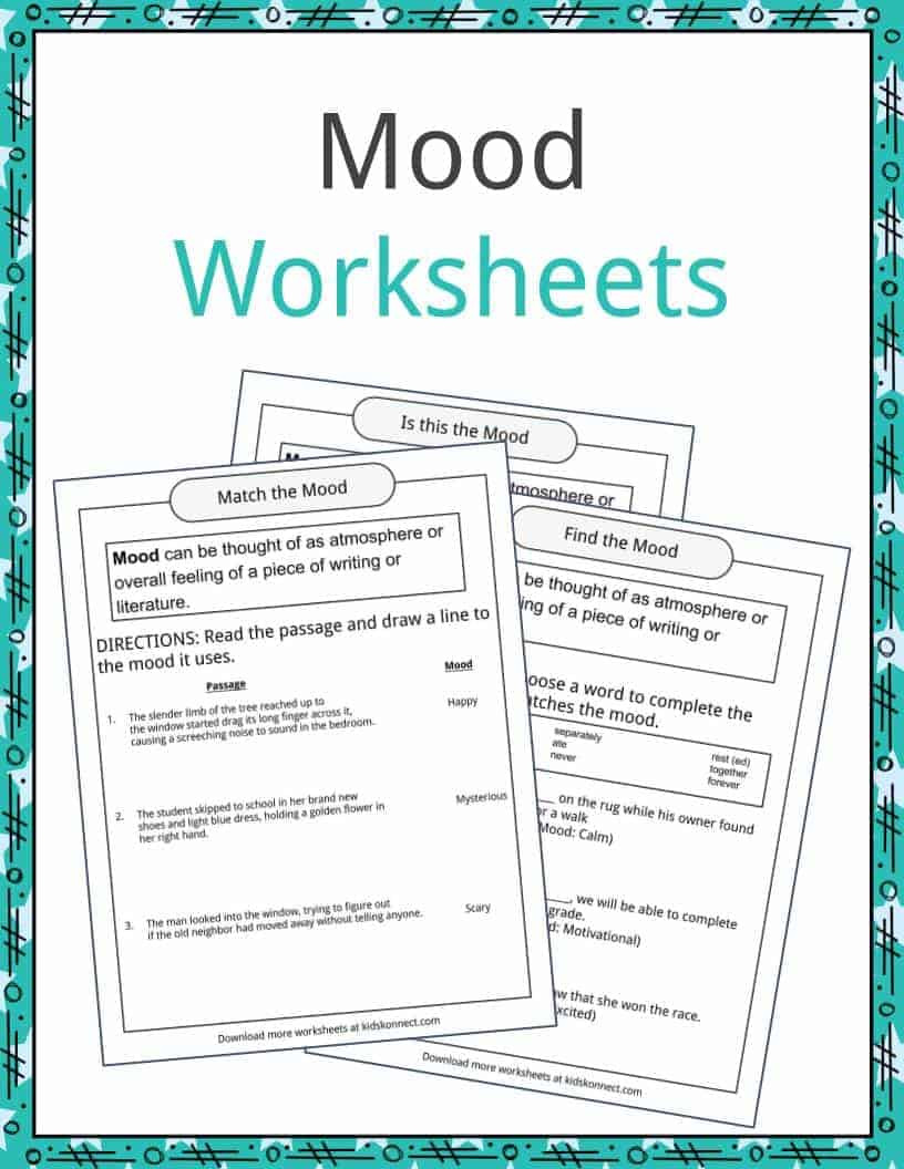 Text Structure 3rd Grade Worksheets Mood Examples Definition and Worksheets