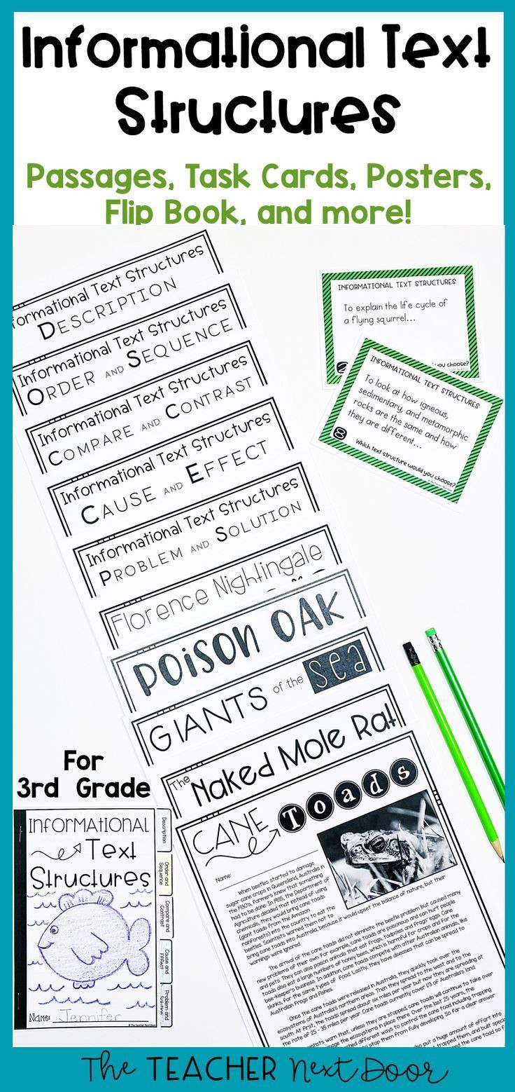 Text Structure Worksheets 3rd Grade Informational Text Structures 3rd Grade with Images