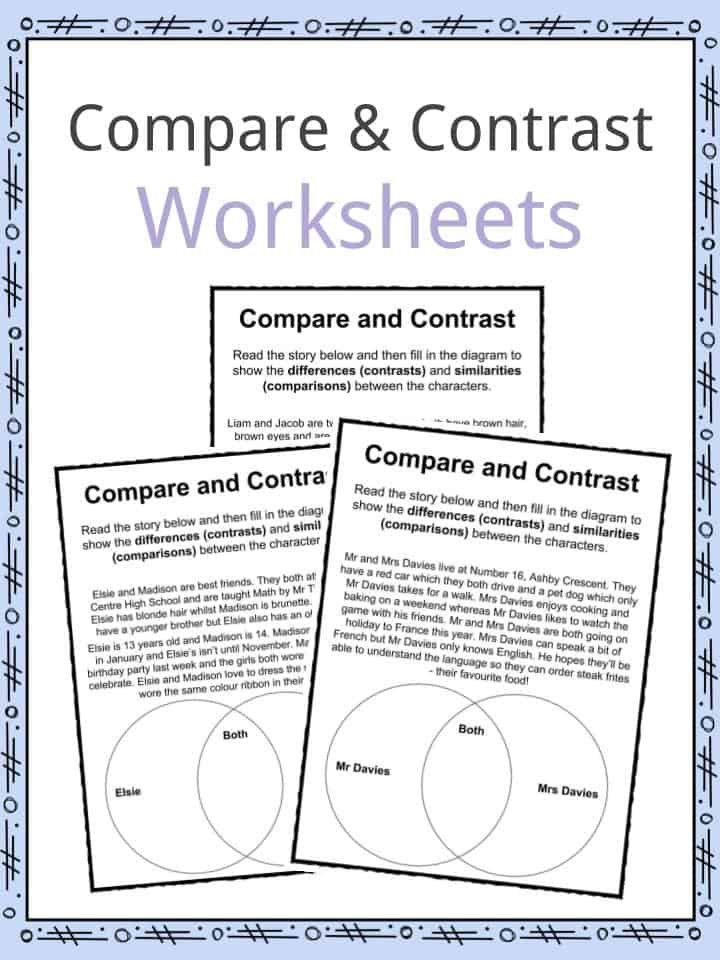 Text Structure Worksheets 3rd Grade Pare and Contrast Worksheets Lesson Plan Pdf S