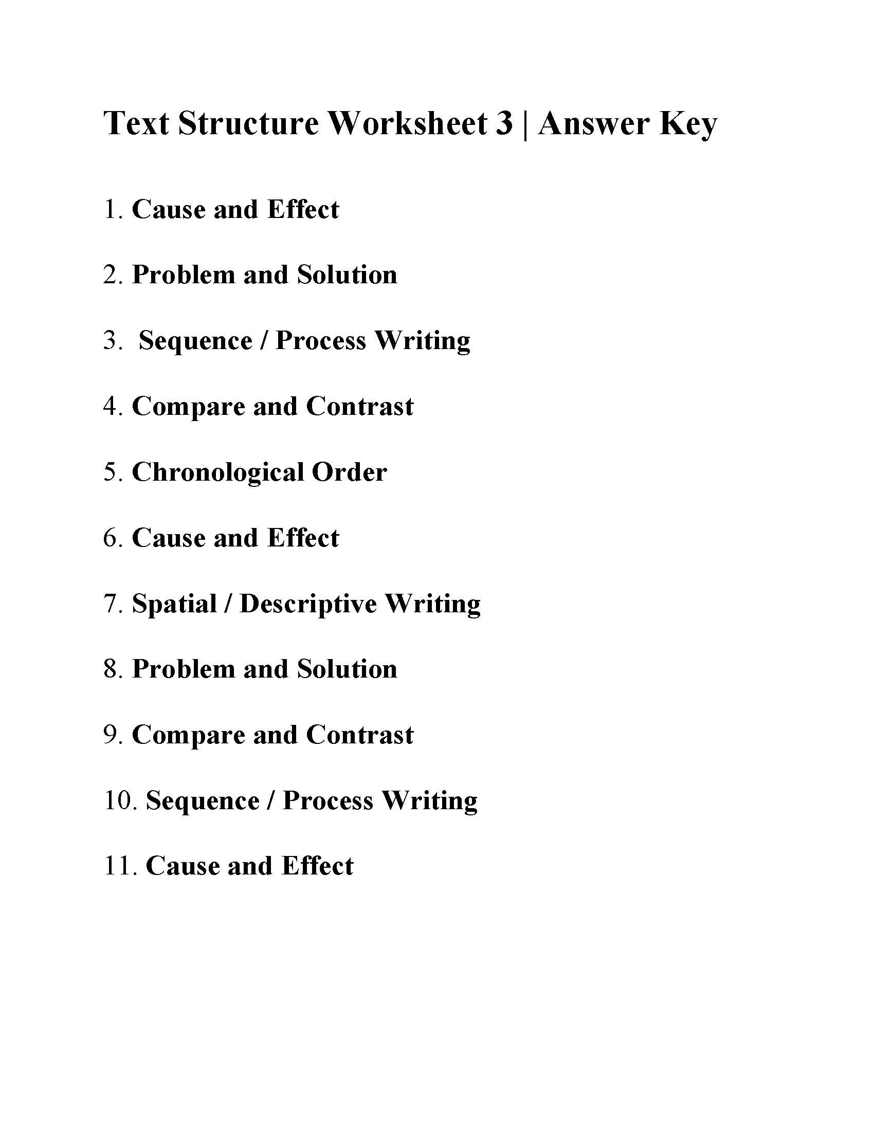 Text Structure Worksheets 3rd Grade Text Structure Worksheet 3