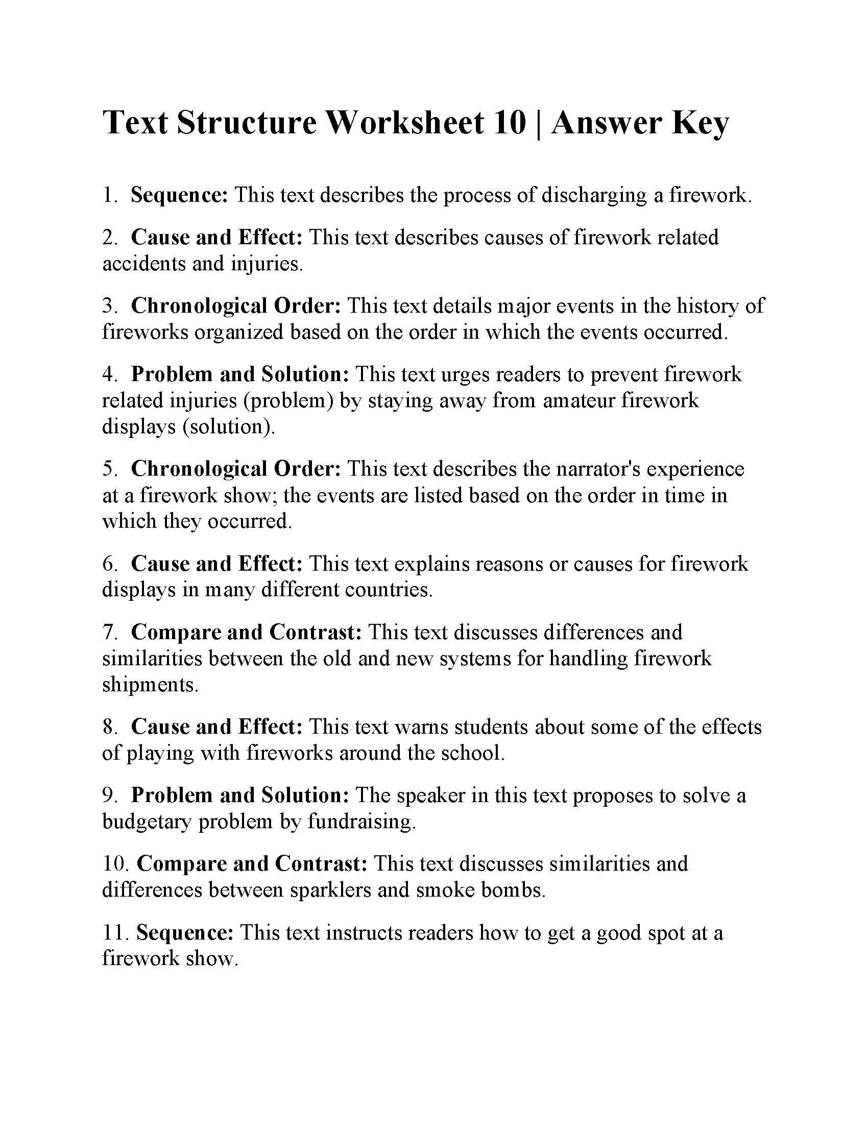 Text Structure Worksheets 3rd Grade Worksheet Grade 10