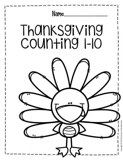 Thanksgiving Math Worksheets First Grade Free Printable Thanksgiving Numbers Preschool Worksheets for