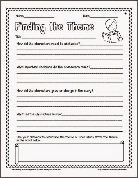 Theme Worksheets 5th Grade Ideas for Teaching theme and A Couple Freebies Minds In
