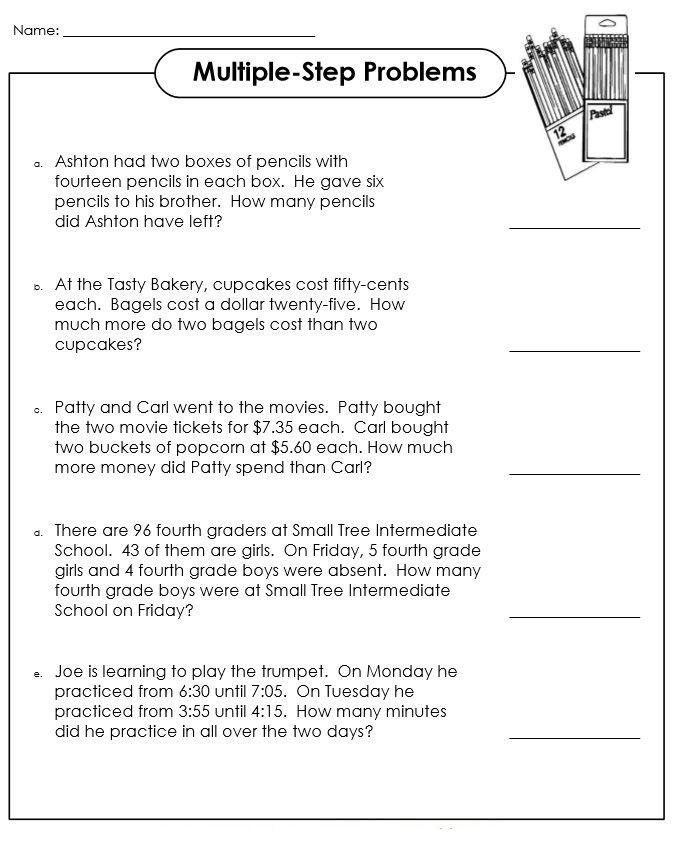 Third Grade Fraction Word Problems 3rd Grade Math Word Problems