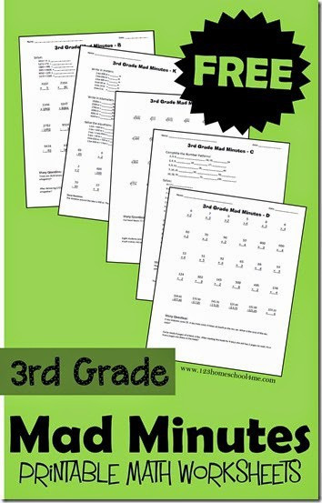 Third Grade Math Minutes Free 3rd Grade Math Worksheets