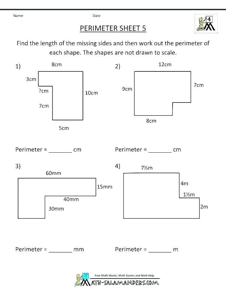 Third Grade Perimeter Worksheets 31 Perimeter 3rd Grade Worksheets In 2020