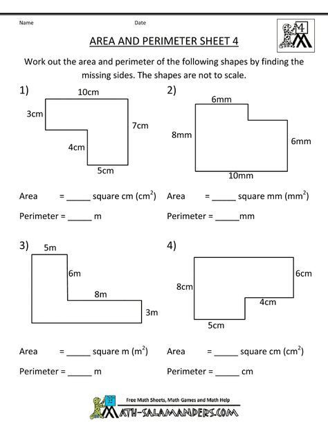 Third Grade Perimeter Worksheets Perimeter Worksheets