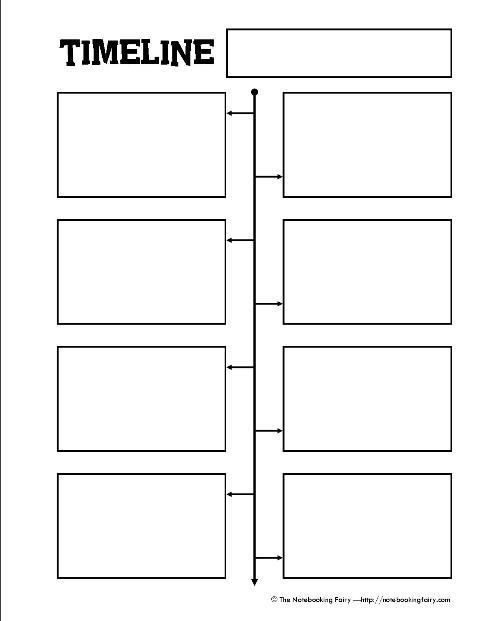 Timeline Worksheets for 1st Grade Free Printable Timeline Notebooking Page From