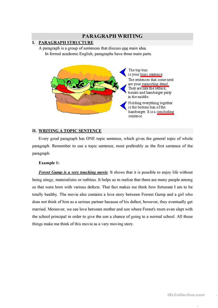 Topic Sentences Worksheets 3rd Grade English Esl topic Sentence Worksheets Most Ed 3