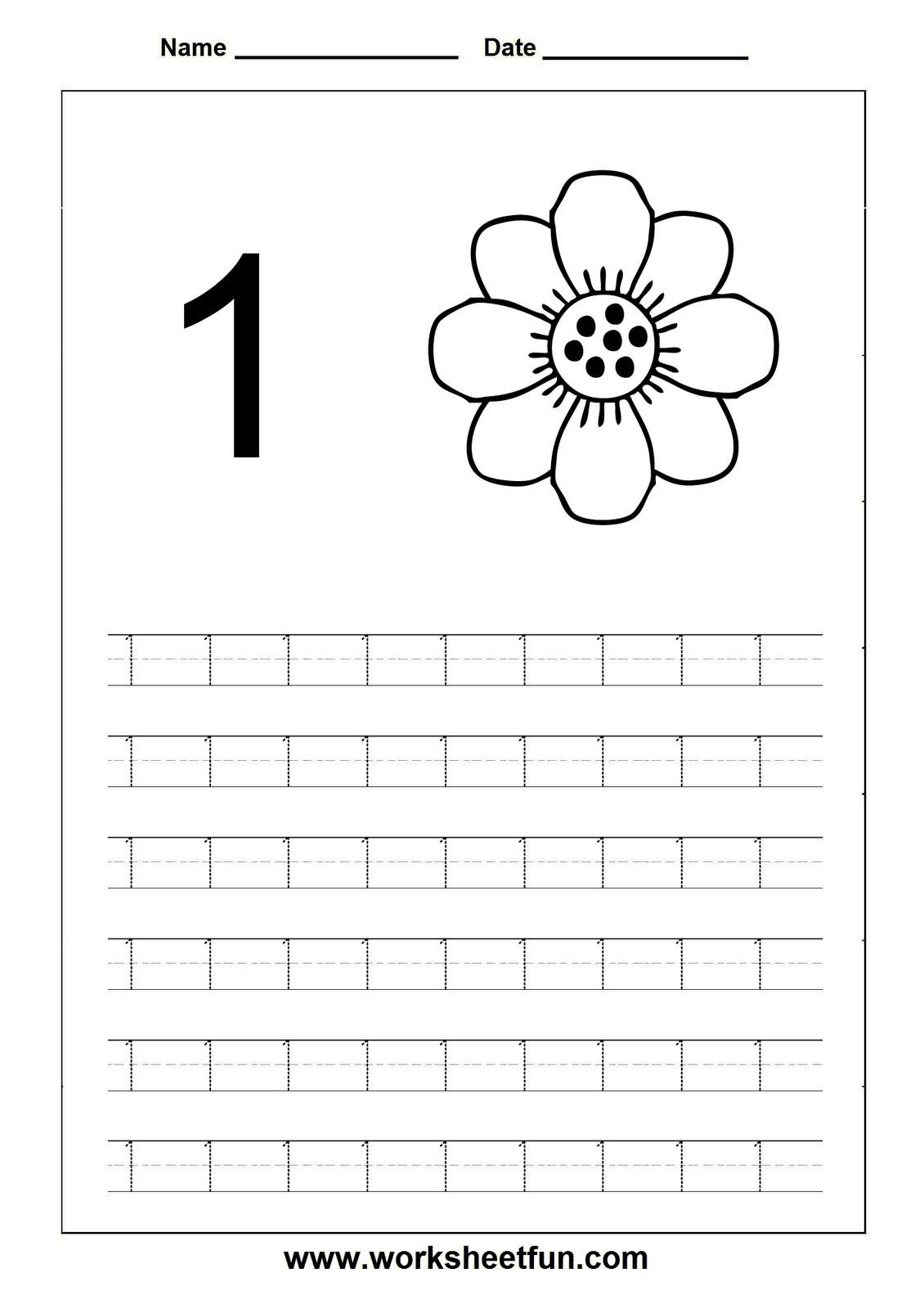 Tracing Numbers 1 20 Printable 4 Worksheet Trace Number 1 20 Worksheet Printable