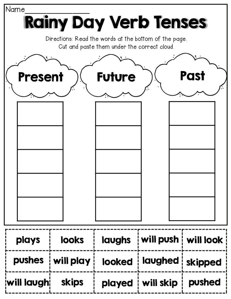 Verb Tense Worksheets 2nd Grade Spring Math and Literacy 1st Grade