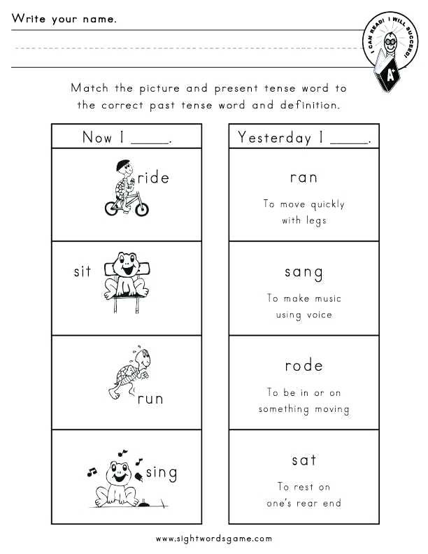 Verbs Worksheets First Grade First Grade Verb Worksheets Verb Worksheets Grade Related