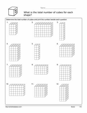 Volume Worksheets 3rd Grade Volume Cube Worksheet Worksheets