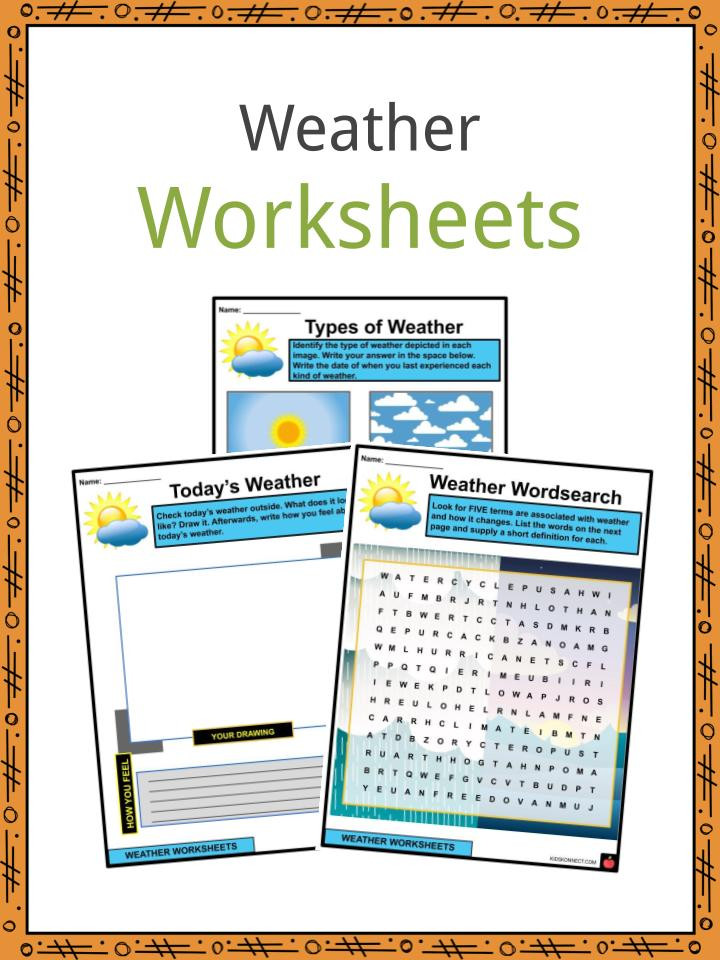 Weather Worksheets for 2nd Grade Weather Facts Worksheets & Types Of Weather for Kids