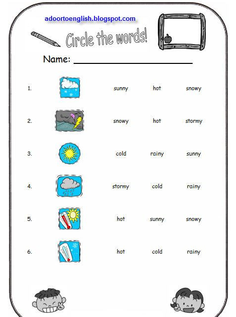 Weather Worksheets for 3rd Grade Weather Worksheets