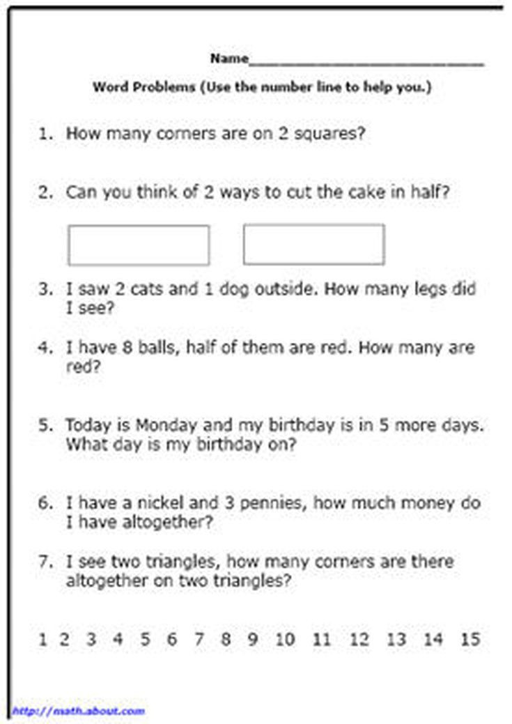 Word Problems Worksheets 1st Grade Word Problem Worksheets for First Grade Math